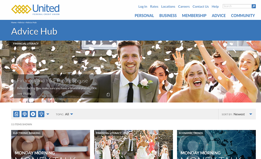 United Federal Credit Union Content Marketing